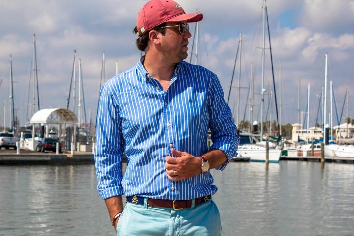 Kiel James Patrick Cape Stripe Beach Chair Seaweather Shirt