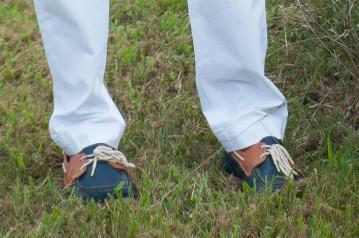 Kiel James Patrick Anchor Navy Blue Boat Shoes