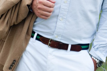 JCrew Surcingle Belt (navy and kelly)